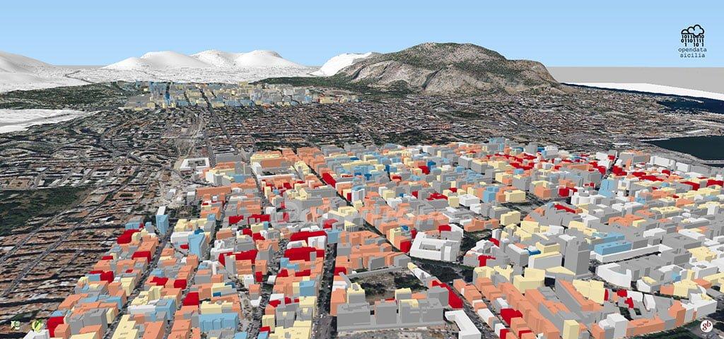Mappa 3D – Vulnerabilità sismica degli edifici residenziali di Palermo