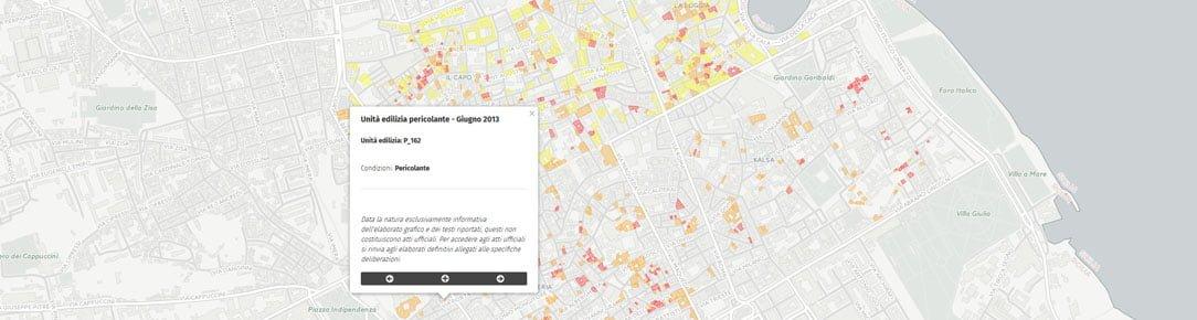 Mappa Edilizia degrdata - Centro Storico Palermo - Giugno 2013
