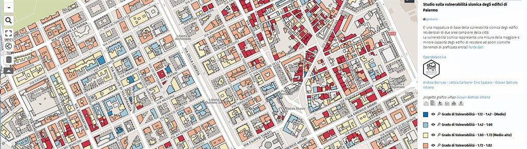 Vulnerabilità sismica degli edifici residenziali di Palermo- Qgis Leaflet