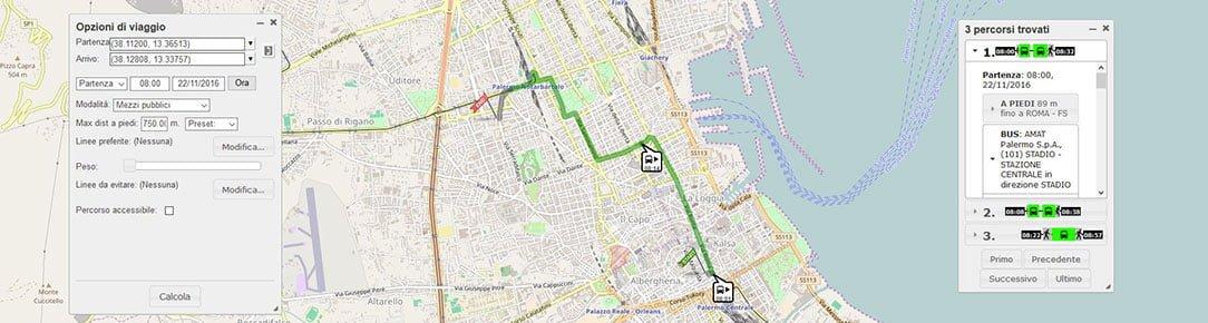 OpenTripPlanner Palermo - Calcola il tuo percorso multinodale
