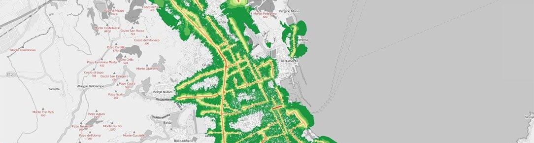 Mappa dell'inquinamento acustico diurno veicolare della Città di Palermo - Qgis Leaflet