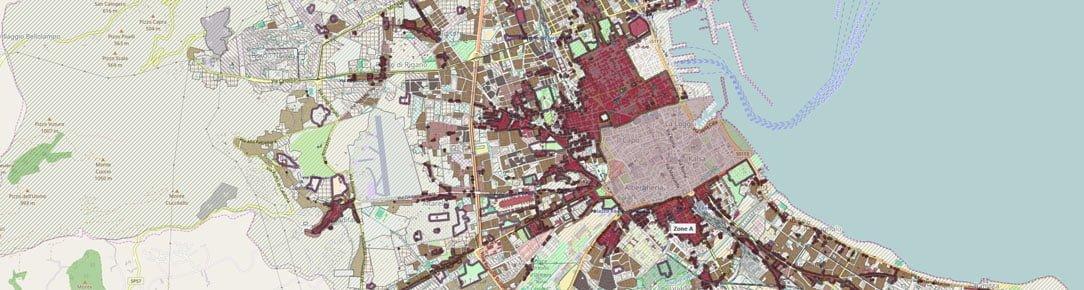 Zonizzazione e vincoli sul territorio della Città di Palermo