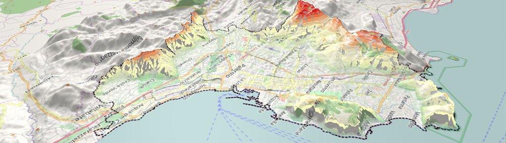 Modello digitale del terreno di Palermo - Qgis