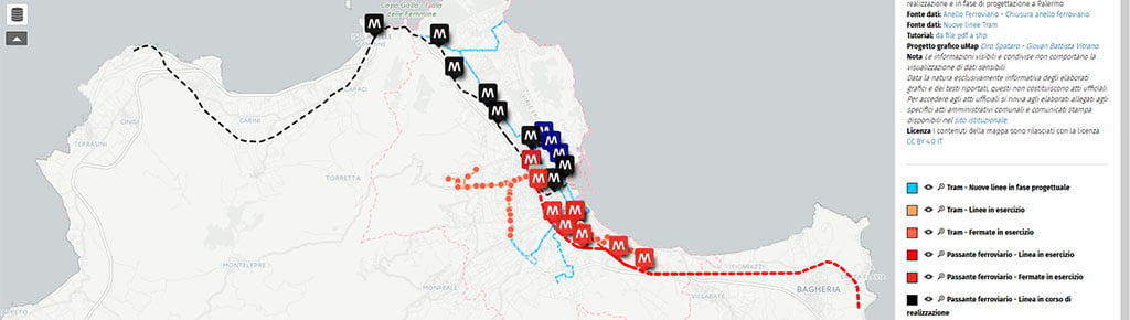 Palermo - Mappa del ferro