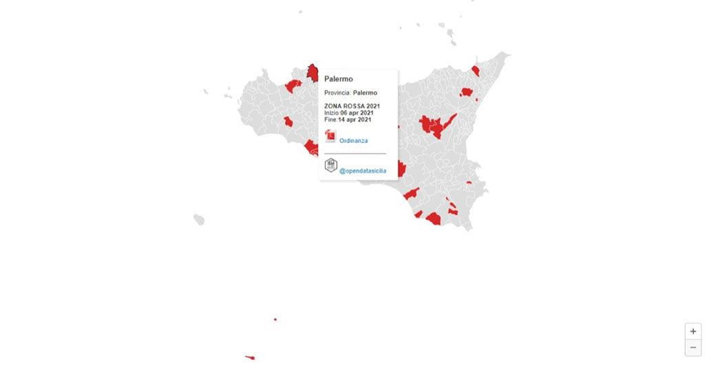 Covid-19 | 2021 – Elenco dei Comuni siciliani attualmente in zona rossa